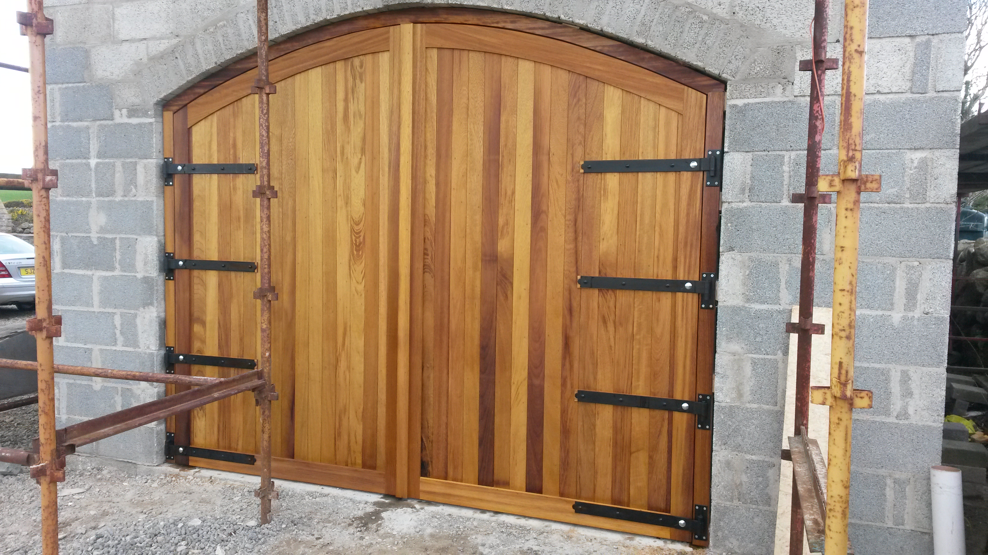 Iroko/hardwood Garage Doors in County Down & Wooden Garage Doors | Wooden Gates Ireland